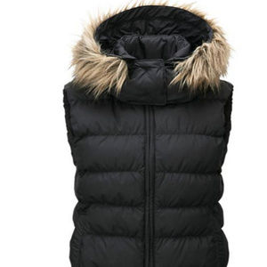 UNIQLO WOMEN'S LARGE DOWN VEST BLACK